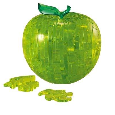 Skládanka Jablko - zelená - 3D Krystal puzzle