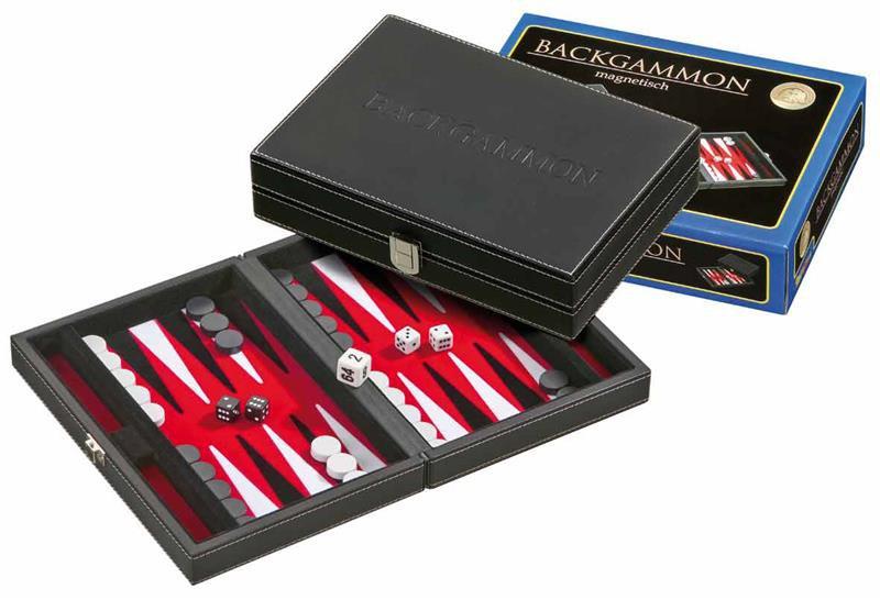Backgammon Vrhcáby střední červené Tinos magnetický