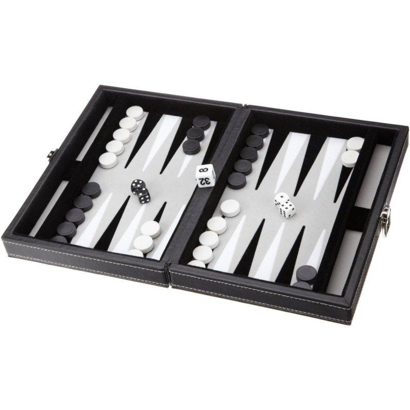 Backgammon Vrhcáby střední šedivé Tinos