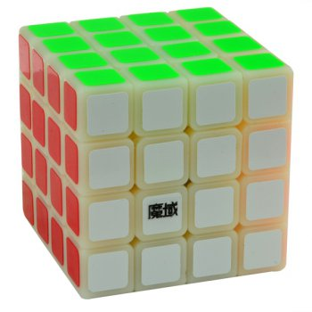 YJ MoYu WeiSu 4x4x4 Magic Cube Cloudy White