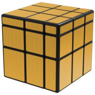 QiYi Brushed Golden Mirror Blocks 3x3x3 Magic Cube Black