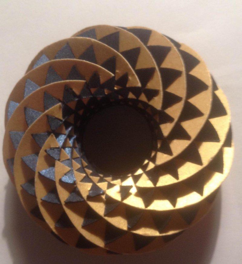 Skládanka Torus 3D Metal papírová