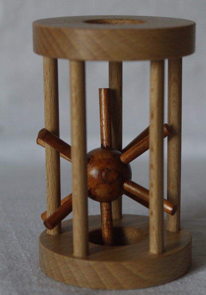 Ježek v kleci dřevěný elegantní