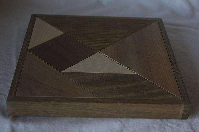 Tangram větší exotické dřevo